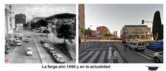 La Farga año 1990 y en la actualidad