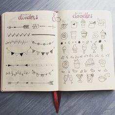 Dividers and Doodles / instagram- @rozmakesplans