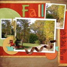 Out My Gate    Created with Gingerscraps Buffet - Fall Festival items http://store.gingerscraps.net/Fall-Festival/ , Paper Pack - Inspired Designs, Alpha - Kathy Winters Designs, Elements - Keep In Touch Designs, Naturally Wonderful templates designed by Connie Prince http://store.gingerscraps.net/Naturally-Wonderful-12x12-Temps-CU-Ok.html and Kim Klaussen textures http://www.kimklassencafe.com/