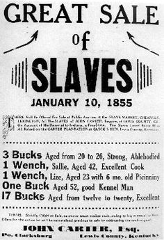 The sale of slaves