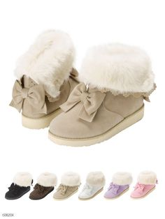 "2015 New winter japanese fluffy sweet bow warm boots free shipping sign up and paste the discount code ""0402013031"" to get 10% off ♥"