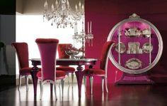 modern formal dining room set in Violet Ambience