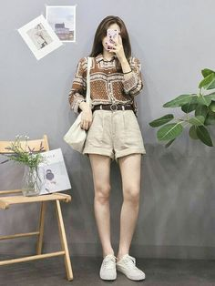 Korean Girl Fashion, Korean Street Fashion, Ulzzang Fashion, Korea Fashion, Cute Fashion, Asian Fashion, Look Fashion, Summer Outfits, Casual Outfits