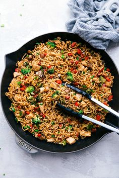 This chicken ramen is an easy and flavorful skillet dinner! With veggies, noodles, chicken, and an addictive sauce coating it all, this is a dinner the whole family will love! Chicken Ramen Recipe, Chicken Recipes, Chicken Curry, Keto Chicken, Chicken Soup, Healthy Chicken, Baked Chicken, Crockpot Recipes, Comida Ramen