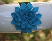felt dahlia flower hair clip