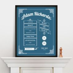 Perfect for any Dad, this personalised print is an ideal #fathersday gift #fathers #day