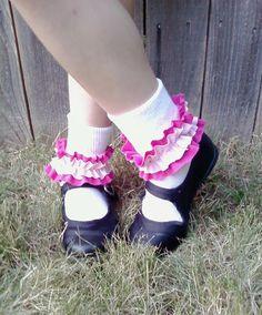 DIY Ruffle socks