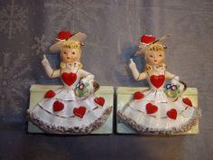 RELPO Valentine Lady Girl Head Vase / Planter 1956 A651