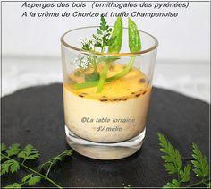 LA TABLE LORRAINE D'AMELIE: Asperges des bois (Ornithogale des Pyrénées) à la crème de chorizo et truffe champenoise
