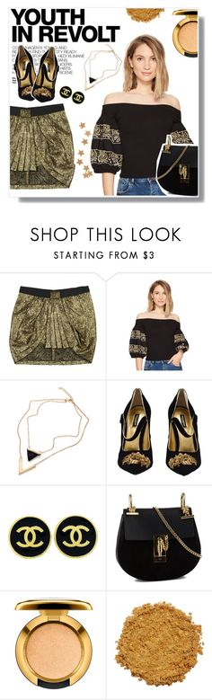 """""""GOLDEN HOUR"""" by mooncacti ❤ liked on Polyvore featuring Isabel Marant, Free People, Hedi Slimane, Dolce&Gabbana, Chanel, Chloé and MAC Cosmetics"""