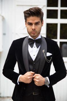Blazer For Men Wedding, Prom Suits For Men, Wedding Men, Wedding Suits, Mens Fashion Wear, Suit Fashion, Groom Tuxedo, Groom Suits, Men's Suits