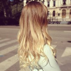 blonde ombre hair but I want it reverse ombré light and then dark! Can't wait