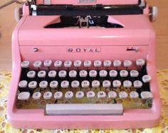 1950's Perfectly Pink Royal Typewriter