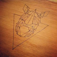 Rino - Pyrography by Paula Maia, via Behance