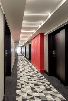 russia 2015 - azimut - international chain - corridor - modern - colors - design -