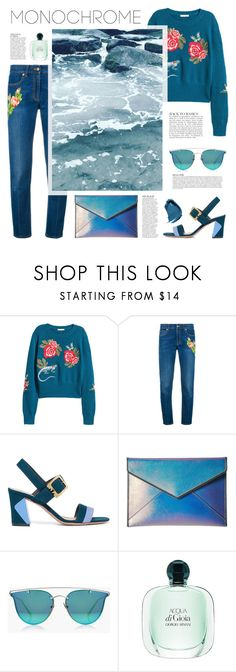 """""""Monochrome: Aqua"""" by northernstylist on Polyvore featuring Gucci, Tory Burch, Rebecca Minkoff, Boohoo, Anja and NARS Cosmetics"""