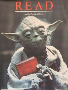Fictional character in the Star Wars space opera franchise created by George Lucas, first appearing in the 1980 film The Empire Strikes Back. Library Posters, Reading Posters, Reading Quotes, I Love Books, Books To Read, My Books, Reading Library, I Love Reading, Star Wars Classroom