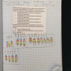 Fraction problem (sample page of a student working inside his/her math journal)