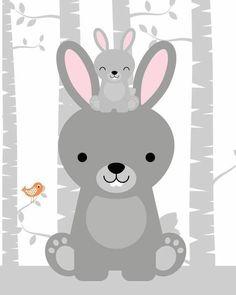 I really like this striking modern nursery Nursery Prints, Nursery Art, Decoration Creche, Baby Poster, Woodland Nursery Decor, Animal Nursery, Baby Kind, Woodland Animals, Cute Illustration