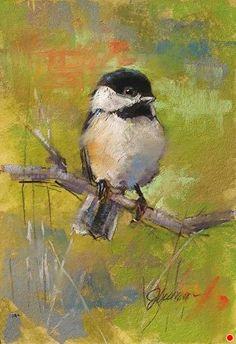 "CHICKADEE ON GREEN by Jan Weaver Pastel ~ 8"" x 6"" Soft Pastel Art, Chalk Pastel Art, Pastel Artwork, Oil Pastel Paintings, Oil Pastel Drawings, Bird Drawings, Chalk Pastels, Soft Pastels, Chalk Art"