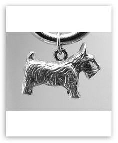 Sterling Silver Scottie Dog / Scottish Terrier Charm Pendant - Please see all of our sterling silver charms / pendants.