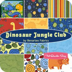 Dinosaur Jungle Club Fat Quarter Bundle Benartex Fabrics - Fat Quarter Shop