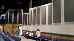 Back wall soundproofing at Life Center.