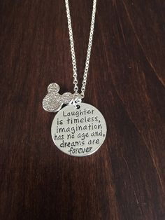 Mickey necklace Minnie Necklace Disney necklace by KMSupplies Disney Necklace, Disney Jewelry, Disney Rings, Disney Engagement Rings, Silver Jewelry Cleaner, Tsumtsum, Skull Fashion, Punk Fashion, Lolita Fashion