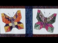 Make an Easy Strip Butterflies Quilt with Jenny Doan of Missouri Star! Butterfly Video, Butterfly Table, Quilt Border, Quilt Top, Quilting Tutorials, Quilting Designs, Quilting Ideas, Butterfly Quilt Pattern, Hexagon Quilt