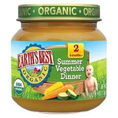 Earth's Best Baby Foods Baby Smr Veg Dnnr (12x4OZ )