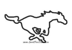 mustang embroidery designs | Mustang Horse Applique Embroidery Design