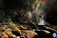 Una de las cascadas del río Sueva, Cundinamarca.