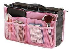 thewin Insert Organiseur de voyage rangement cosmétique sac à main, Forme rectangulaire - Rose, 1X: Amazon.fr: Cuisine & Maison