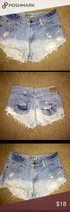 Vintage Levi's Distressed Shorts Super cute! I made these myself and they are awesome! Size 8 Levi's Shorts Jean Shorts