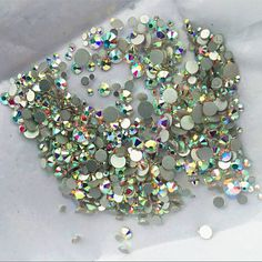 High quality 1000PCS Mix Sizes Crystal Clear AB Non Hotfix Flatback Nail Rhinestoens For Nails 3D Nail Art Decoration Gems -- See this great product.