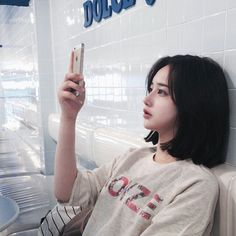 New Hair Styles Short Asian Korean Fashion Ideas Ulzzang Short Hair, Asian Short Hair, Girl Short Hair, Short Girls, Short Hair Cuts, Korean Short Haircut, Short Hair Korean Style, Ulzzang Hairstyle, Short Girl Style