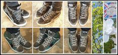 """""""GOLDEN GOOSE PART 1 NOW IN @ PRESS!"""" Stunning New Hi-tops, JUST IN!!! Choose from Classic Black or Green Glitter! LOVE THESE!"""