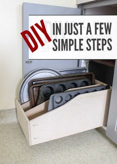 Are you looking for more organization in your kitchen? I was plus I was tired of trying to find a baking sheet under that pile of pans. After remodeling the kitchen cabinets, I wanted to organize the inside of the cabinets. And this is our solution for the baking pans a DIY pullout baking sheet drawer. What …
