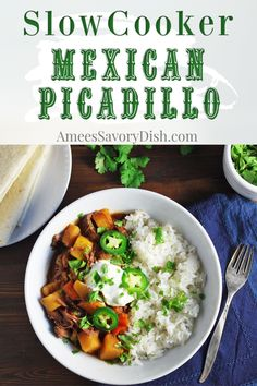 A slow cooker beef recipe for Mexican Picadillo made with tender Chuck-Eye Roast. This easy beef recipe is loaded with flavor. The best part is that it comes together in less than fifteen minutes and cooks while you go about your day! Easy One Pot Meals, Easy Family Dinners, Easy Weeknight Meals, Best Beef Recipes, Mexican Food Recipes, Family Recipes, Easy Recipes, Slow Cooker Pork, Slow Cooker Recipes