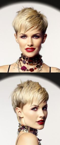 "How to style the Pixie cut? Despite what we think of short cuts , it is possible to play with his hair and to style his Pixie cut as he pleases. For a hairstyle with a ""so chic"" and pointed… Continue Reading → Pixie Haircut, Hairstyles Haircuts, Trendy Hairstyles, Straight Hairstyles, Celebrity Hairstyles, Messy Short Hair, Short Straight Hair, Short Hair Cuts, Pixie Cuts"
