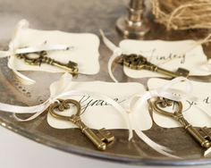 Key placecards from Fairyfolk Weddings on Etsy.