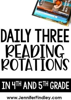 Daily Three Reading Stations - Teaching with Jennifer Findley : Daily 3 reading in and grade! Thinking about implementing a Daily Three reading structure for reading rotations? Check out this post for details and example activities for each roation. Reading Lessons, Reading Activities, Guided Reading, Close Reading, Daily 5 Reading, Teaching Reading, Reading Lesson Plans, Teaching Ideas, Reading Resources
