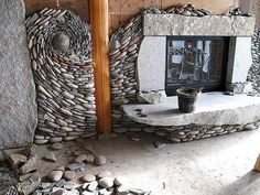 building stone walls out of rocks and pebbles