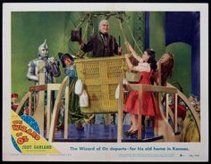 THE WIZARD OF OZ  (1949)  Original Re-Release lobby card size, 11x14 movie poster.  Scene #4.
