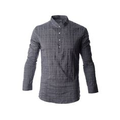 FLATSEVEN Mens Madarin Collar Button Down Casual Shirt (£22) found on Polyvore Casual Button Down Shirts, Casual Shirts, Button Downs, Shoe Bag, Polyvore, Stuff To Buy, Shopping, Collection, Design