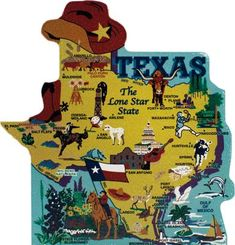 Show your state pride with a state map of Texas handcrafted in wood by The Cat's Meow Village Texas Roadtrip, Texas Travel, Galveston Port, Map Of America States, Texas State Map, Texas Pride, Port Lavaca, Yellowstone Park, Lone Star State