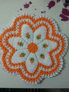 Crochet Flowers, Doilies, Elsa, Knit Crochet, Mandala, Embroidery, Blanket, Knitting, Creative