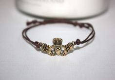 Claddagh Wish Bracelet - Antique Gold