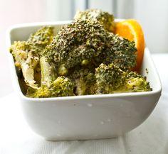 Lemon Pepper Tahini Broccoli