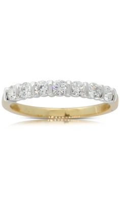 18ct yellow and white gold .50ct diamond band. A sparkling wedding band or glittering statement ring.